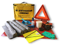 Kit absorbant antipollution tous liquides ADR avec absorbants